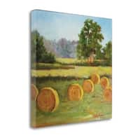 Bales In The Summer By Cheri Wollenberg,  Gallery Wrap Canvas