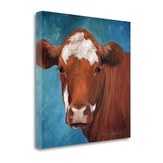 Chocolate Cow By Cheri Wollenberg,  Gallery Wrap Canvas