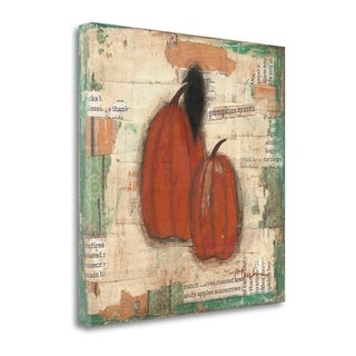 Pumpkins And Crow By Cassandra Cushman,  Gallery Wrap Canvas