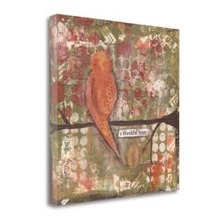 Thankful Heart Bird By Cassandra Cushman,  Gallery Wrap Canvas