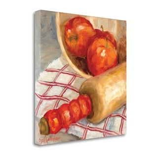 Apples And Rolling Pin By Cheri Wollenberg,  Gallery Wrap Canvas