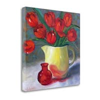 Red Tulips II By Cheri Wollenberg,  Gallery Wrap Canvas