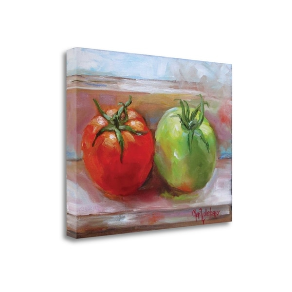 Red Tomato Green Tomato By Cheri Wollenberg, Gallery Wrap Canvas