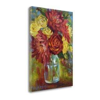 Tanglewood Fine Art Cheri Wollenberg 'Autumn Floral' Gallery Wrapped Canvas Art
