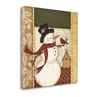 Country Snowman By Jennifer Pugh,  Gallery Wrap Canvas
