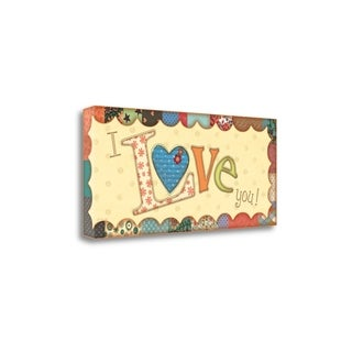 I Love You By Jo Moulton,  Gallery Wrap Canvas