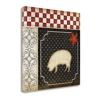 Country Kitchen - Pig By Jennifer Pugh,  Gallery Wrap Canvas