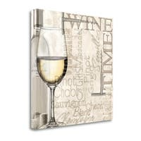Time For Wine - White By Lisa Wolk,  Gallery Wrap Canvas