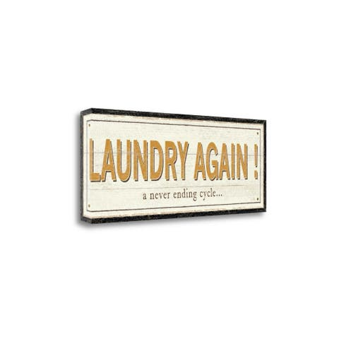 Laundry Again By Pela, Gallery Wrap Canvas