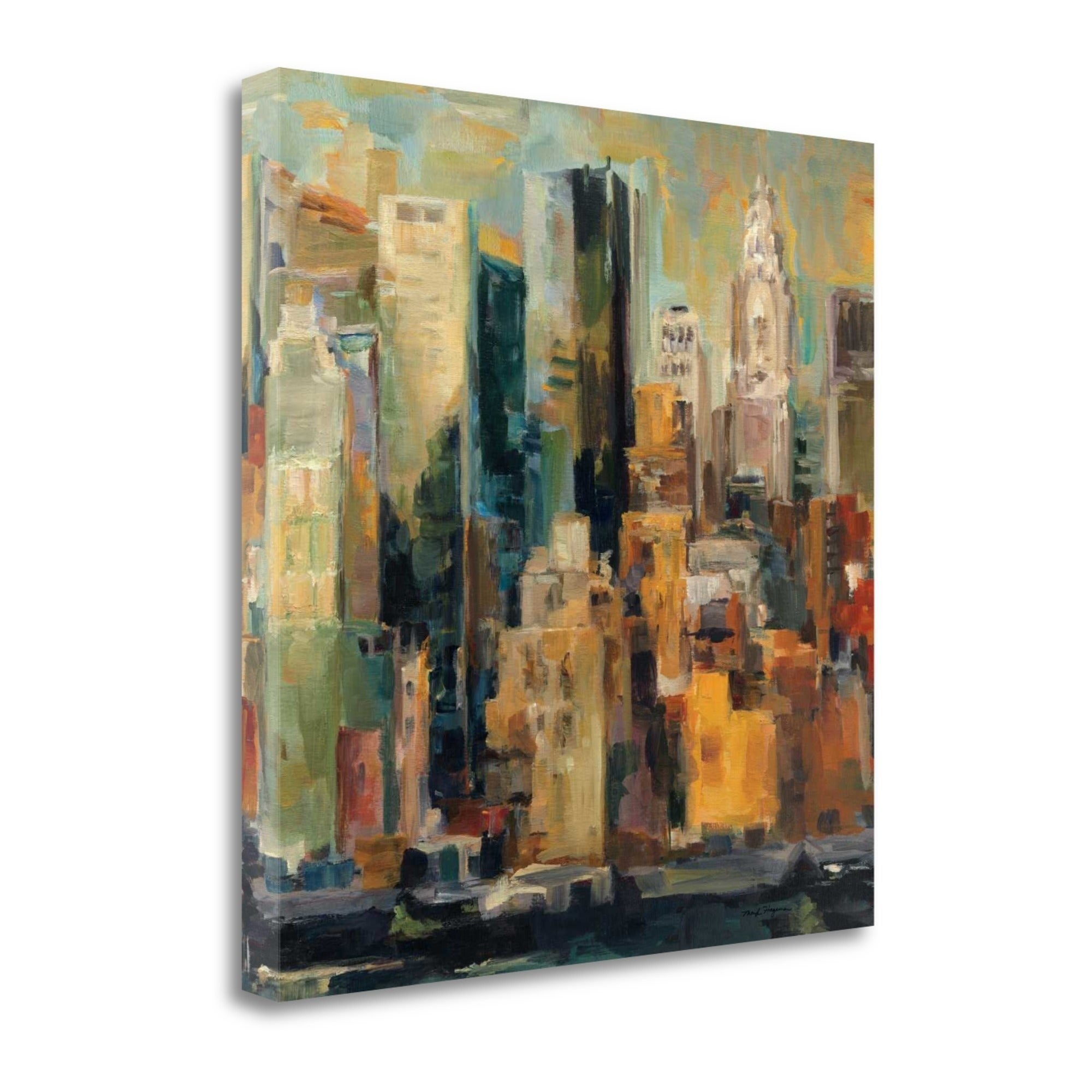 New York New York by Marilyn Hageman 35x35 Art Print Manhattan Skyline Abstract