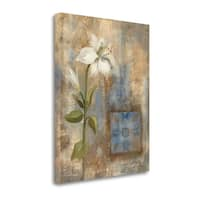 Lily And Tile By Silvia Vassileva,  Gallery Wrap Canvas