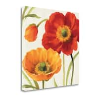 Poppies Melody III By Lisa Audit,  Gallery Wrap Canvas