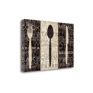 Kitchen Words Trio By Pela Studio, Gallery Wrap Canvas