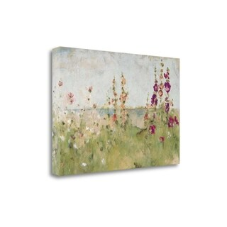 Hollyhocks By The Sea By Cheri Blum, Gallery Wrap Canvas