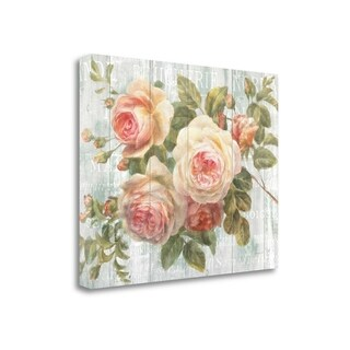 Vintage Roses On Driftwood By Danhui Nai, Gallery Wrap Canvas