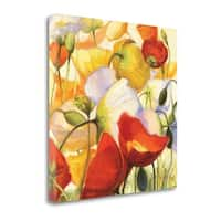 Poppies Up Close By Shirley Novak,  Gallery Wrap Canvas