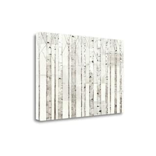 Birch Trees On White By Avery Tillmon, Gallery Wrap Canvas
