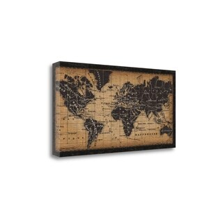 Old World Map By Pela Studio, Gallery Wrap Canvas