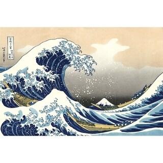 """Epic Graffiti """"Great Wave off Kanagawa"""" by Hokusai Glossy Acrylic Wall Art, 48"""" x 32"""""""