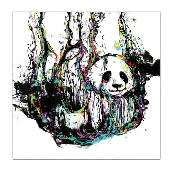 Epic Graffiti Ecstasy Panda In A High Gloss Acrylic Wall Art