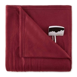 Biddeford 1001-9052106-302 Comfort Knit Fleece Electric Heated Blanket Full Red