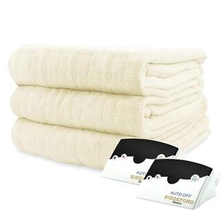 Biddeford 2034-905291-702 MicroPlush Electric Heated Blanket King Creme