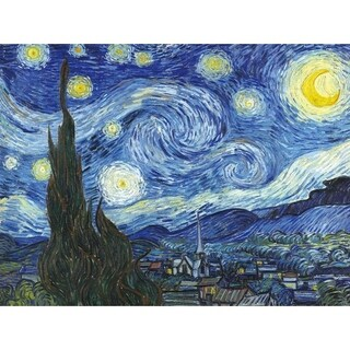 "Epic Graffiti ""Starry Night"" by Vincent van Gogh in High Gloss Acrylic Wall Art, 30"" x 40"""