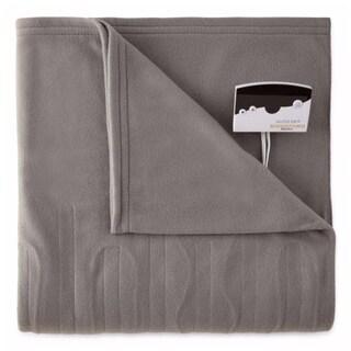 Biddeford 1000-9052106-902 Comfort Knit Fleece Electric Heated Blanket Twin Grey