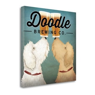 Doodle Beer Double By Ryan Fowler, Gallery Wrap Canvas