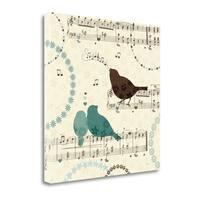 Song Birds II By Veronique Charron,  Gallery Wrap Canvas