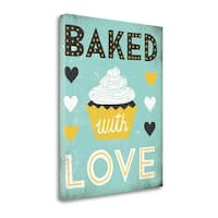 Retro Diner Baked With Love By Michael Mullan,  Gallery Wrap Canvas