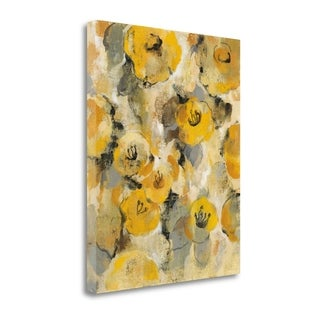 Yellow Floral II By Silvia Vassileva,  Gallery Wrap Canvas