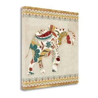 Boho Elephant I By Wild Apple Portfolio, Gallery Wrap Canvas