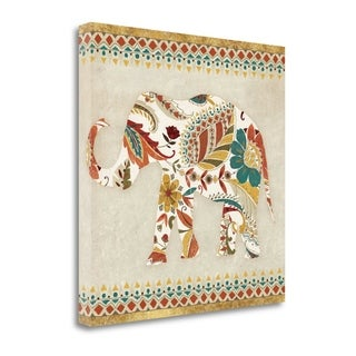 Boho Elephant II By Wild Apple Portfolio, Gallery Wrap Canvas