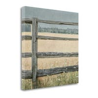 Neutral Country I Crop By Elizabeth Urquhart,  Gallery Wrap Canvas