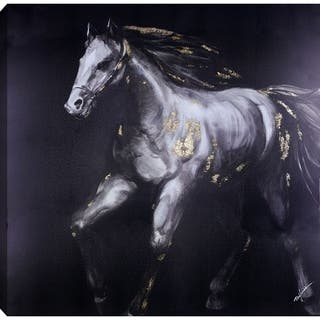 36x36 HORSE II, Acrylic Painting on Canvas, Ready to Hang
