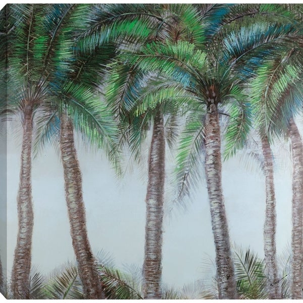 40x40 PALMS, Acrylic Painting on Canvas, Ready to Hang