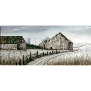 'Farmhouse I' 31.5-inch x 71-inch Gallery-wrapped Acrylic Painting on Canvas with 3-D Elements, Ready to Hang