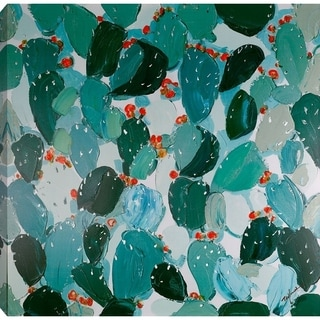 40x40 CACTUS II, Acrylic Painting on Canvas, Ready to Hang