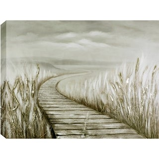 35.5x47 BOARDWALK, Acrylic Painting on Canvas, Ready to Hang