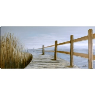 Boardwalk Acrylic Canvas 3D-element Ready-to-hang Painting