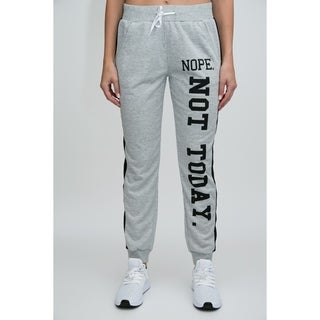 RAG Womens Active Terry Joggers - Nope, Not Today Screen