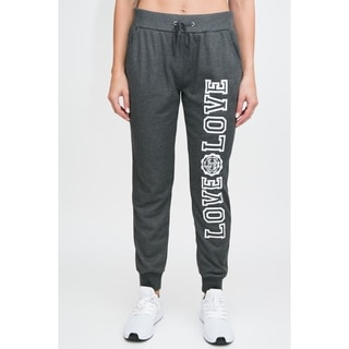 RAG Womens Active Terry Joggers - Love Love Screen