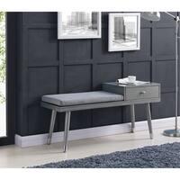 Elba-Bench W/Drawer-Grey