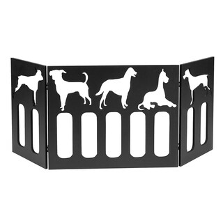 "47"" Freestanding Pet Gate w/ Puppy Cut Out - Wood Dog Gates Indoor - Dog Fence"