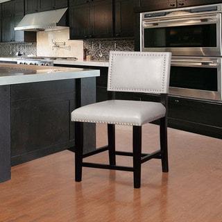 Link to Linon Garrett Dove Grey Wood, Foam, Fabric Counter Stool Similar Items in Dining Room & Bar Furniture