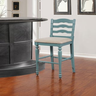 Mason Antique Blue Bar Stool
