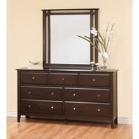 Abbyson Marsala Espresso Wood 7 Drawer Dresser