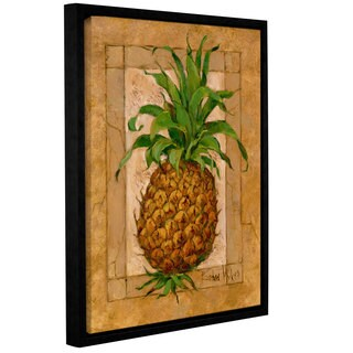 Barbara Mock's Pineapple Pizzazz, Gallery Wrapped Floater-framed Canvas
