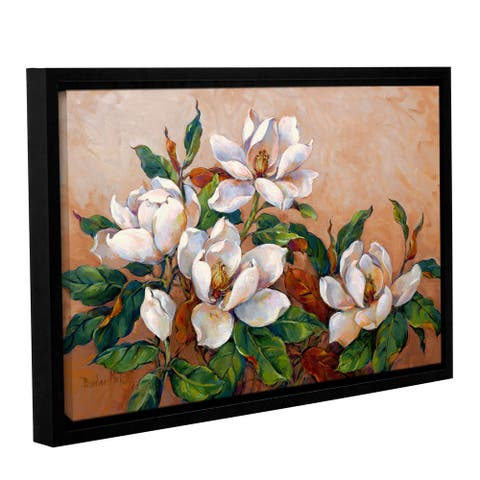 Barbara Mock's Magnolia Inspiration, Gallery Wrapped Floater-framed Canvas - multi